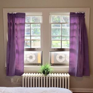 Set of two purple curtains